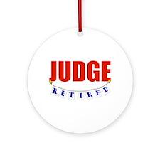 Retired Judge Ornament (Round)