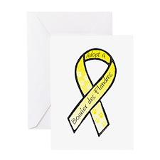 Bouvier RibbonC Greeting Card