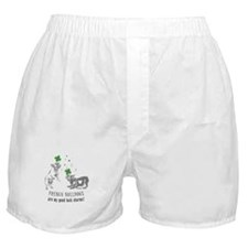 Frenchie Good Luck (GRAY) Boxer Shorts