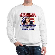"""Kiss My Ass"" Patriotic Uncle Sam Sweatshirt"