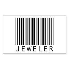 Jeweler Barcode Rectangle Decal