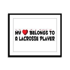 Belongs To A Lacrosse Player Framed Panel Print