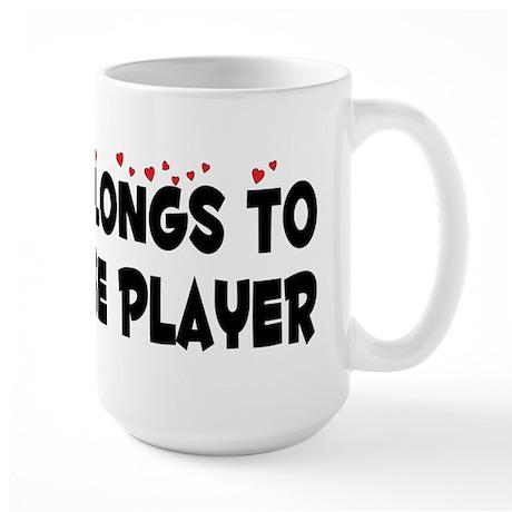 Belongs To A Lacrosse Player Large Mug