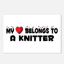 Belongs To A Knitter Postcards (Package of 8)