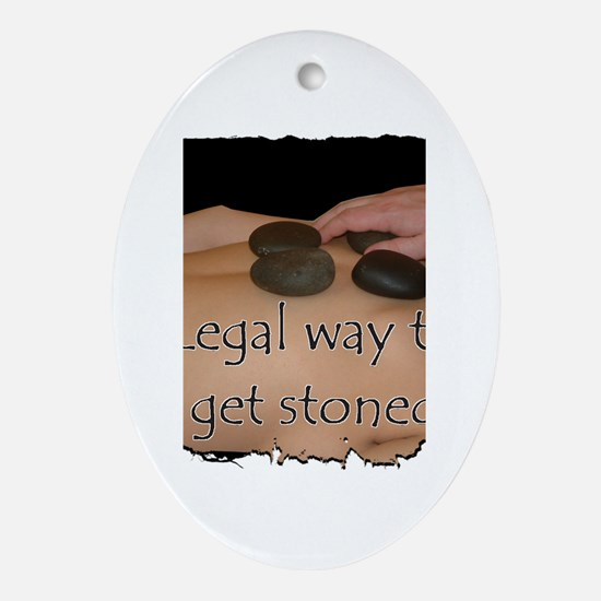 Hot Rock Therapy Oval Ornament
