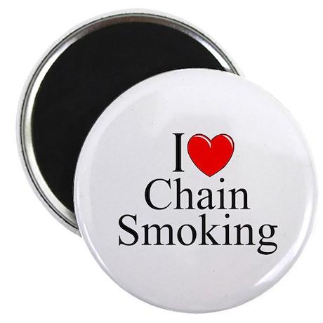 """I Love (Heart) Chain Smoking"" Magnet"