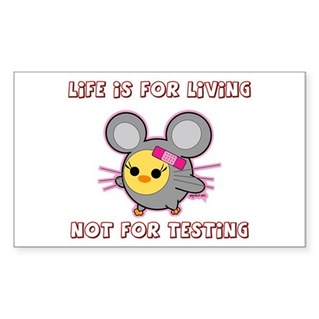 Soychick Mouse Against Animal Testing Sticker (Rec