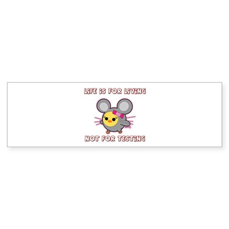 Soychick Mouse Against Animal Testing Sticker (Bum