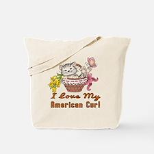 I Love My American Curl Designs Tote Bag