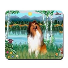 Birches / Collie (s) Mousepad
