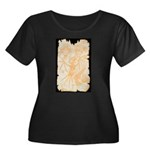 Map Women's Plus Size Scoop Neck Dark T-Shirt