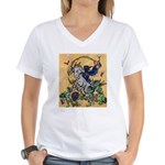 Goats Dance Women's V-Neck T-Shirt