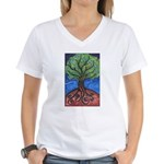 Tree of Life Women's V-Neck T-Shirt