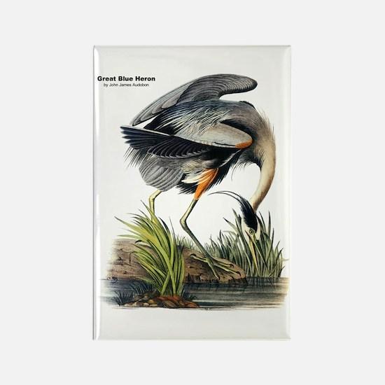Audubon Great Blue Heron Rectangle Magnet
