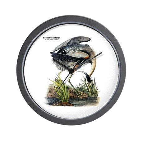 Audubon Great Blue Heron Wall Clock