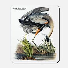 Audubon Great Blue Heron Mousepad