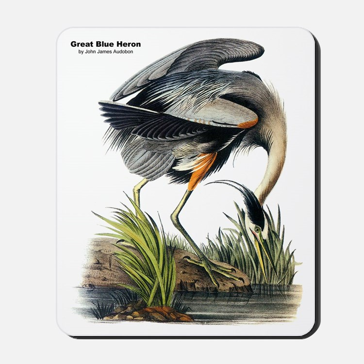 Audubon Great Blue Heron Mousepad
