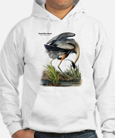 Audubon Great Blue Heron (Front) Hoodie Sweatshirt