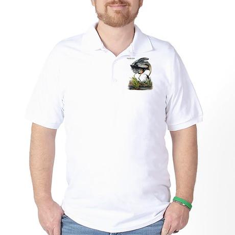 Audubon Great Blue Heron Golf Shirt