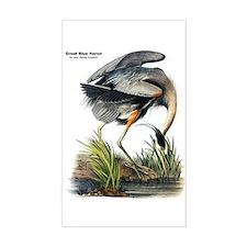 Audubon Great Blue Heron Rectangle Decal