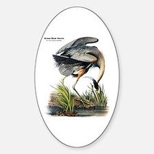 Audubon Great Blue Heron Oval Decal