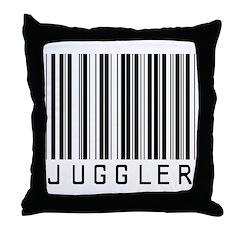Juggler Barcode Throw Pillow