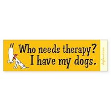 Therapy Dogs Bumper Bumper Sticker