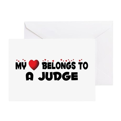 Belongs To A Judge Greeting Card