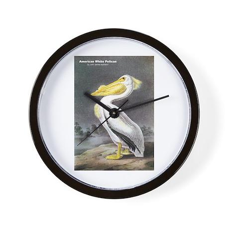 Audubon American White Pelican Wall Clock