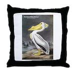 Audubon American White Pelican Throw Pillow