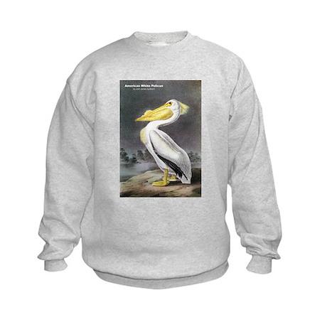 Audubon American White Pelican Kids Sweatshirt