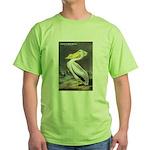 Audubon American White Pelican Green T-Shirt