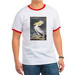 Audubon American White Pelican Ringer T