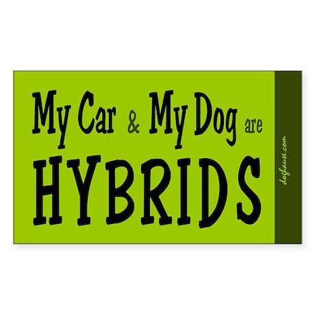 Car and Dog Hybrids Rectangle Sticker