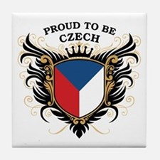 Proud to be Czech Tile Coaster