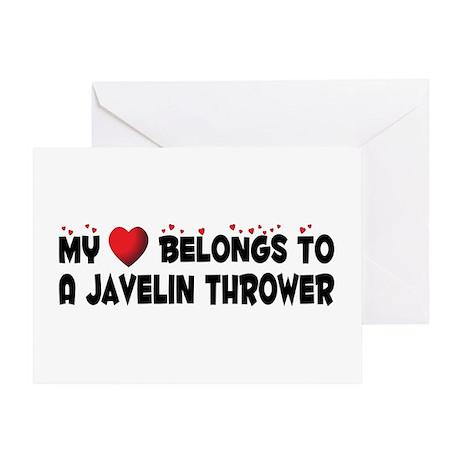 Belongs To A Javelin Thrower Greeting Card