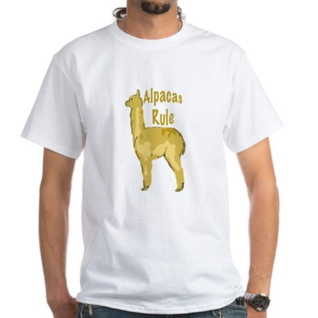 alpacas rule White T-Shirt
