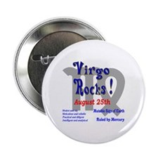 Virgo August 25th Button