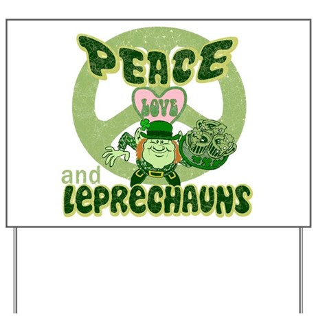Peace Love and Irish Folklore Yard Sign