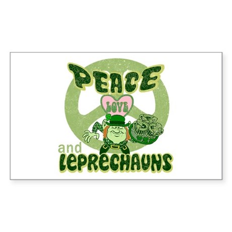 Peace Love and Irish Folklore Sticker (Rectangular