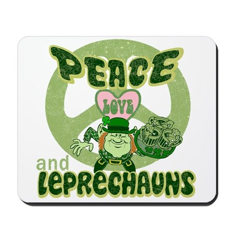 Peace Love and Irish Folklore Mousepad