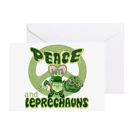 Peace Love and Irish Folklore Greeting Card