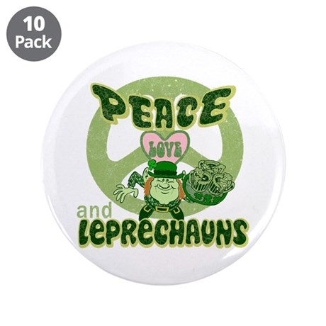 "Peace Love and Irish Folklore 3.5"" Button (10 pack"