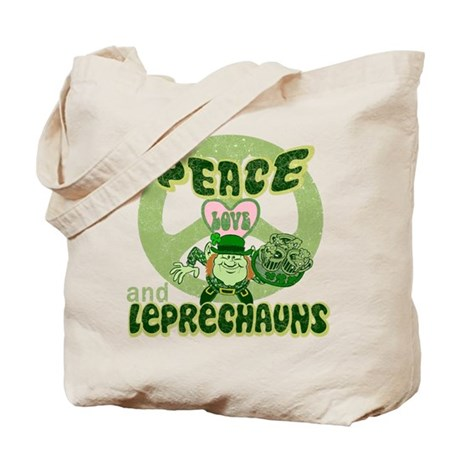 Peace Love and Irish Folklore Tote Bag