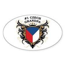 Number One Czech Grandpa Oval Decal