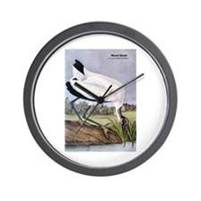 Audubon Wood Stork Bird Wall Clock