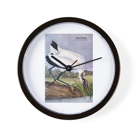 Audubon Wood Stork Bird Wall Clock