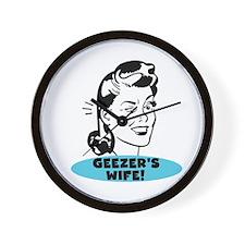 Geezer's Wife Wall Clock