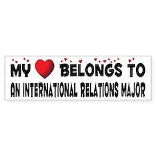 Belongs To An International Relations Major Sticke