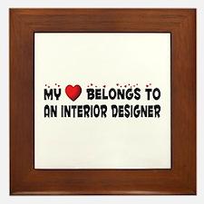 Belongs To An Interior Designer Framed Tile